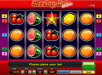 Скриншот Sizzling Hot Deluxe